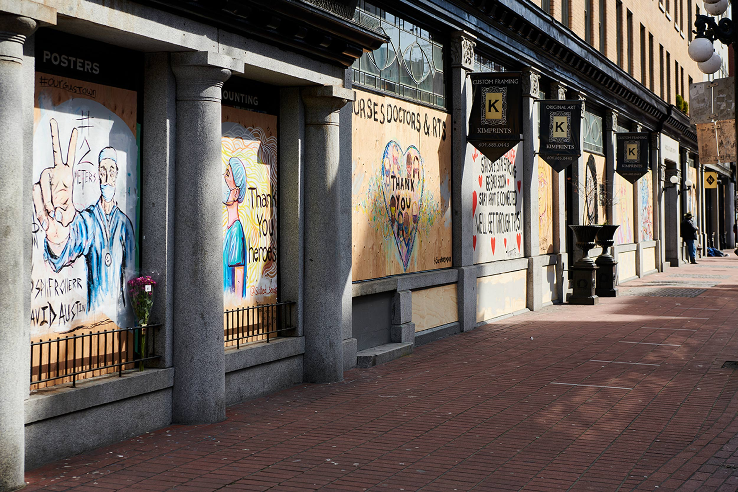 2020-Pandemic-Murals-of-Gratitude-Gastown-Vancouver-Art-Personal-Project-Erich-Saide-Photographer-Gastown-Street-boarded-COVID