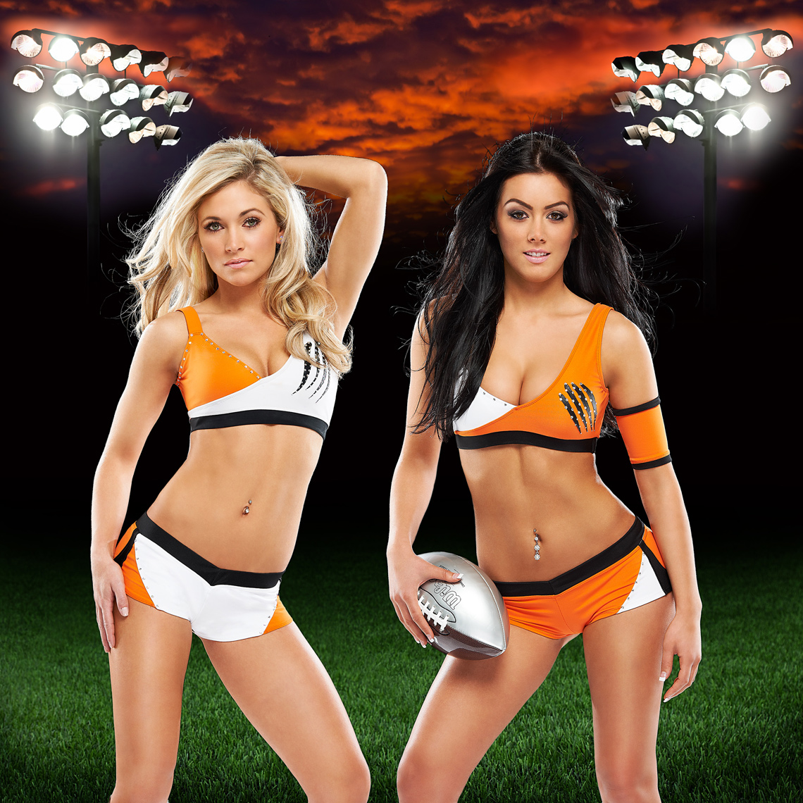Felions Calendar Cover - BC Lions Cheerleaders