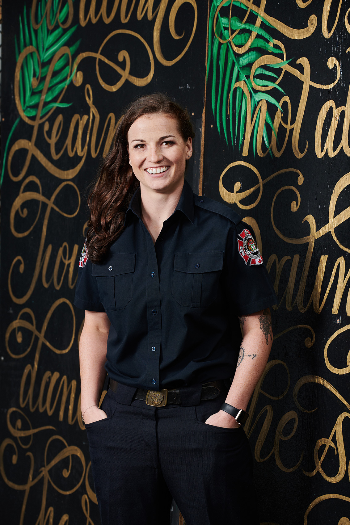 HOF-Hall-of-Flame-Calender-Erich-Saide-Vancouver-Portrait-Photographer-Female-Firefighters-First-Responders-Hot-Hero-August-Emily-Uniform