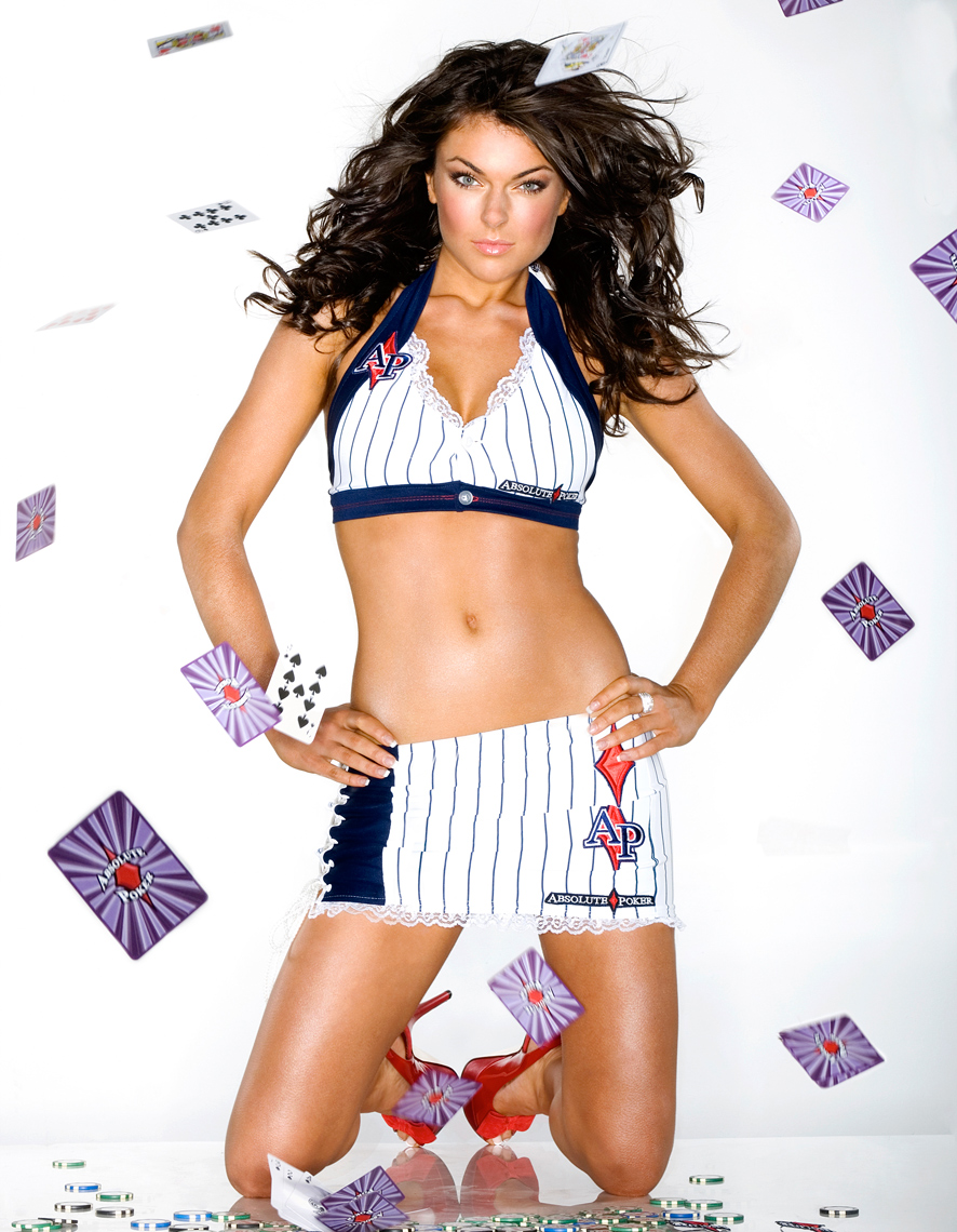 Actress Serinda Swan - Absolute Poker Ad Campaign